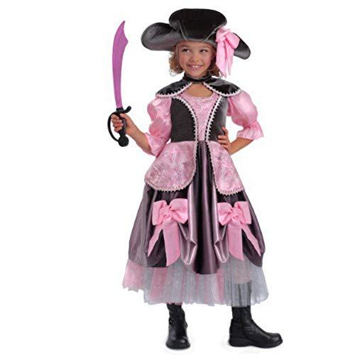 TrendyDress Piratin Vivian Prinzessin Kostüm Mädchen Kleid Gr. 116/122, 128/134, 140/146, 152 (116/122)