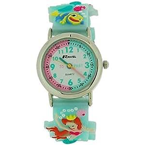 Ravel Girls-Kids 3D Time Teacher White Dial Watch R1513.65