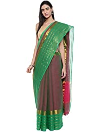 CLASSICATE From the house of Classicate From The House Of The Chennai Silks - Pure Venkatagiri Cotton Saree - Rose Brown - (CCMYSC9370)
