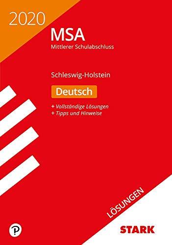 STARK Lösungen zu Original-Prüfungen und Training MSA 2020 - Deutsch - Schleswig-Holstein