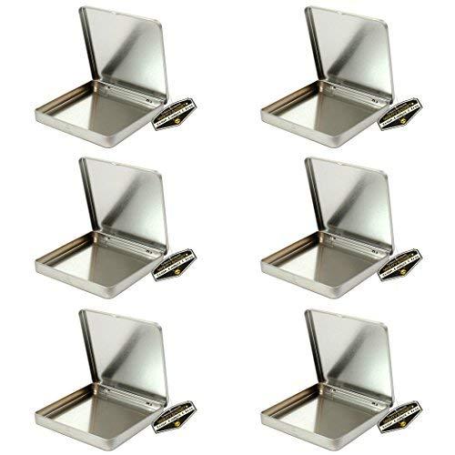 Mighty Gadget (R) quadratisch leer Scharnierdeckel Survival Dose Behälter für Geocaching oder Survival Gear (6Pack)-9,5x 9,5x 1,1cm