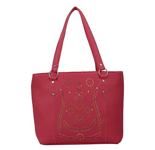 Alice Designer cutwork handbag wine(NKS-511-GUN)  available at amazon for Rs.299