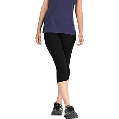 Pixie Western Wear Capri Leggings | 3/4th | Pants | Combo Pack of 3 for Women/Girls/Ladies (Black, Dark Brown and Maroon) - Free Size