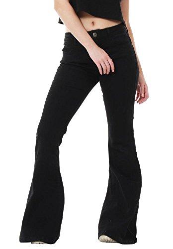 Glamour Outfitters - Damen Jeans-Schlaghosen - 60er/70er Stil mit Retro-Waschung (42)