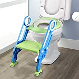 YISSVIC Siège de Toilette Enfant Reducteur de Toilette Pliable et Réglable Escalier...