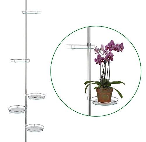 Teleskop Blumensäule Spannregal - oder als Pflanzenständer Blumentreppe
