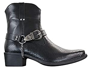 Mens Snake Leather Look Cowboy  Boots from Rossellini