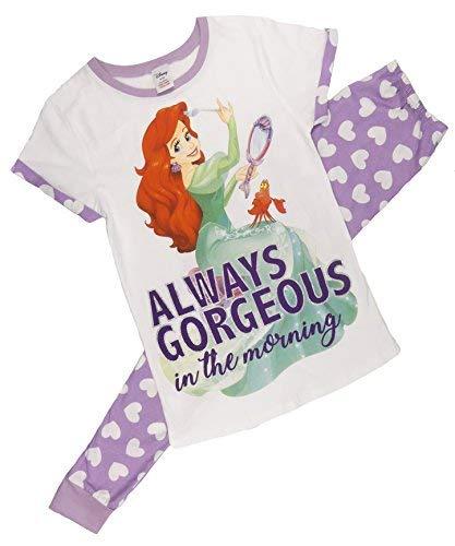 Disney, Marvel, Tatty Teddy Damen 100% Cotton 2-TLG Kurzer Schlafanzug Satz,Verschiedene Comic-Figuren - Kleine Meerjungfrau (Lila), Size 16-18 -
