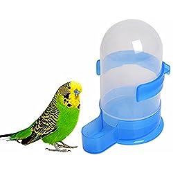 500ml Bebedor para Pajaros Loros Botella de Agua para Loros Dispensador Automático de Agua para Mascotas Aves Loros Grandes Puede ser Colgado en Jaula Accesorios de Pajaros Pet Bird Feeding