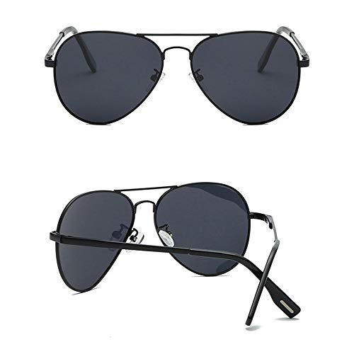 KOBWA Aviator Polarized Sonnenbrillen für Männer Frauen Klassische Brille mit UV400 Objektiv Ultraleicht Nasenpolster Metallrahmen Fahren Outdoor 2,28 Zoll