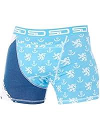 Smuggling Duds Blue-White North Sea - Scotland Boxer Shorts