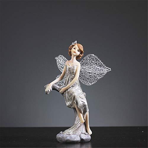 BAIOLL Skulpturen Statuen Dekoartikel Harz Handwerk Engel Ornamente Wohnaccessoires Dekoration Zimmer Kleine Schmuck Weinschrank Nordic Niedlich Raumeinrichtung, Bb