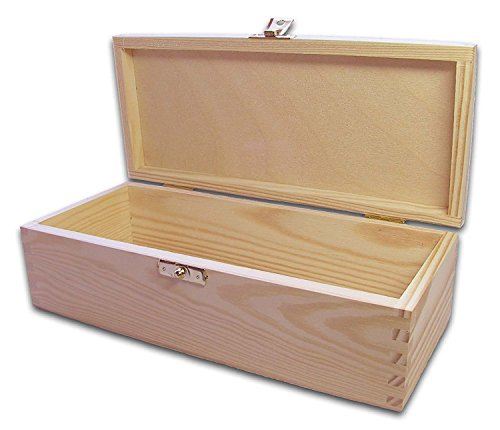 MidaCreativ Holz-Schatulle, Holzkiste, Kassette, Box, Kiefer unbehandelt