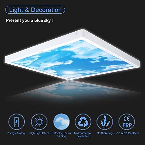 Awenia 36W LED Deckenleuchte Dimmbar 60x60 Panel Lampe KaltWeiß 6500K Flimmerfrei Deckenlampe 3000lm Wandlampe für Schlafzimmer Küchen Esszimmer Wohnzimmer Balkon Flur Korridor Büro