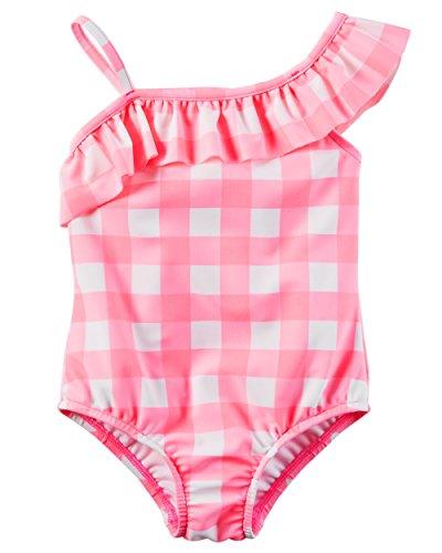 Carter's Badeanzug mit Gingan Für Mädchen 3 Jahre Rosa (Badeanzug Kinder Carters)