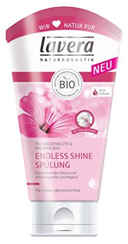 lavera Endless Shine Spülung Bio-Malve und Avocado - Haarpflege mattes glanzloses Haar 2er Pack (2 x 150 ml)