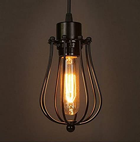 Retro Vintage Hängeleuchte Pendelleuchte Deckenbeleuchtung E27 Fassung für Esstisch, Schlafzimmer,Kaffee-Bar,Leseraum