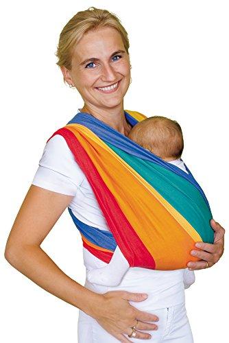 Babytuch - das Tragetuch ohne Knoten (6, Regenbogen) Jaquard-wrap