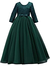 f0ee7ba872eb04 FYMNSI Blumenmädchen Kleider Mädchen Kinder Festlich Hochzeits Kleid  Prinzessin Brautjungfern Anlässe Partykleider Festzug…