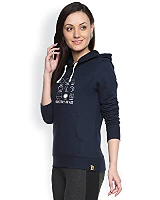 Campus Sutra Women's Cotton Printed Hoodie