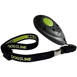 Dogsline Clicker professionnel avec dragonne élastique , training dressage pour chiens chats chevaux , colori noir , FRDL01PA