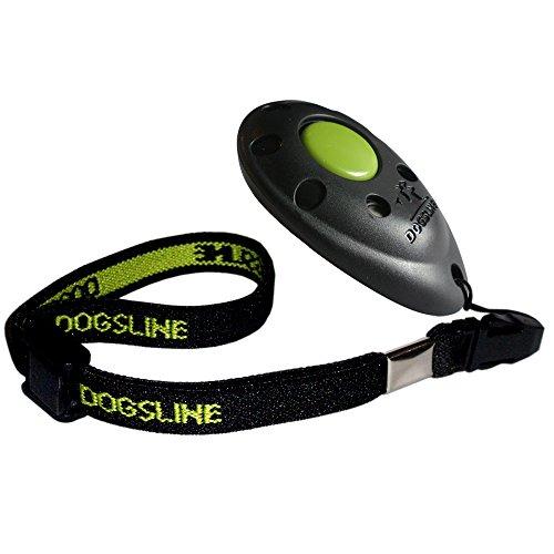 Dogsline Profi Clicker mit elastischer Handschlaufe für Clickertraining , schwarz , DL01PA