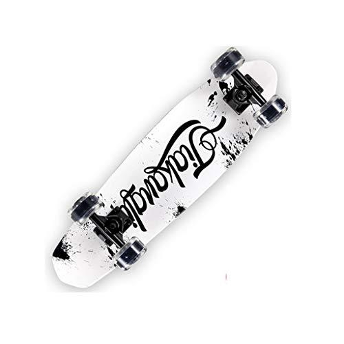 XJLXX Anfänger-Roller für Anfänger mit Vier Rädern, Skateboard-Jugend-Ahorn, Skateboard, 13 × 68 cm Skateboard (Color : B)