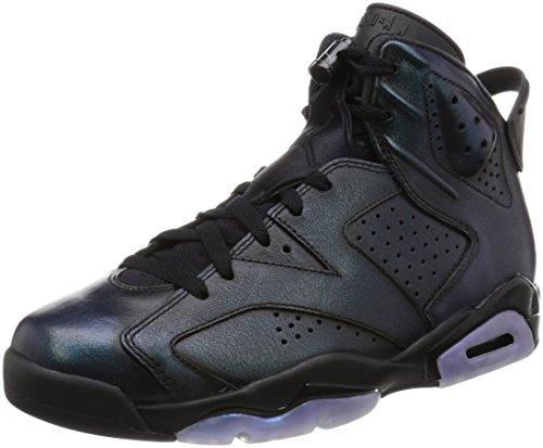 Air Jordan 6 Retro As Schuhe Sneaker Neu Mens (EUR 43 US 9.5 UK 8.5, Black/Black/White)