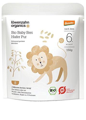 Löwenzahn Organics Demeter Baby Brei Hafer 6+ Monate