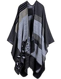 d9fc82e58ecc Femme Cape Poncho Extra Large écharpe Châle Blanket Poncho Automne Hiver