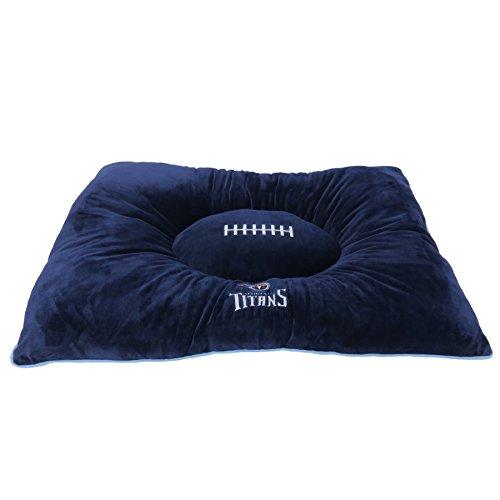 Pets First NFL Pet Bed-Tennessee Titans Soft & Cozy Plüsch Kissen.-Fußball Hundebett Cuddle, warm Sport Matratze Bett für Hunde und Katzen (Nfl Plüsch-fußball)