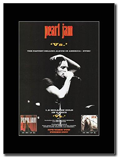 Pearl Jam - 'Vs' Magazine Promo on a Black (Pearl Jam Memorabilia)