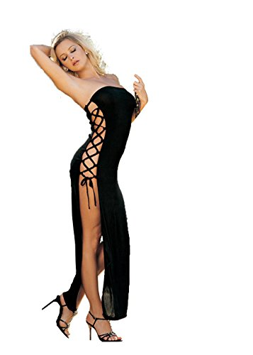 a0f3fdbc1c6 Shirley of Hollywood Number 90049 One Size Black Stunning Slinky Strapless  Dress