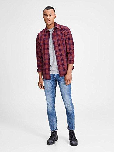 JACK & JONES Herren Freizeithemd Jorfischer Shirt LS Mehrfarbig (Cordovan Checks:Slim Fit)