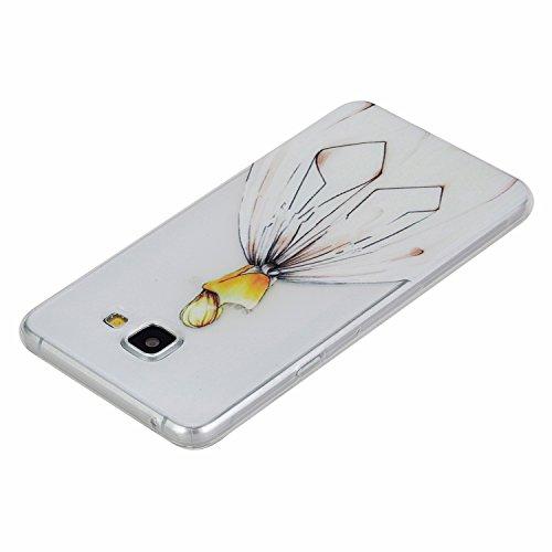 Coque Bumper pour Samsung Galaxy A3 2016,Galaxy A3 2016 Soft Silicone Tpu Coque Mode,Samsung Galaxy A3 Flexible Souple Case,Ekakashop Mignonne Design Transparente Crystal Clair Souple Gel Housse Coque Arrière