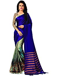 Venisa Women's Cotton Saree (Y003_Purple)