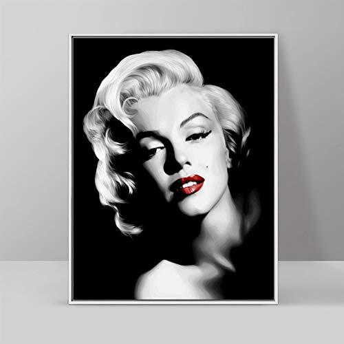 5D Diamant Malerei Kits Marilyn Monroe verputzt Kreuzstich Wohnzimmer Schlafzimmer Charakter dekorative Malerei Full Diamond Cube Runde Diamant 60X80cm