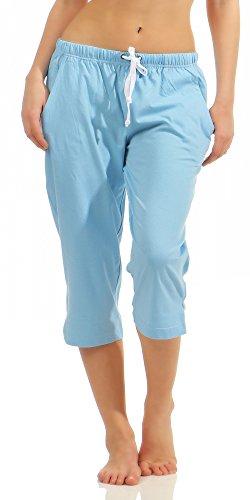 Normann Damen Capri Pyjamahose Mix & Match unifarben ideal zum kombinieren 181 223 90 902
