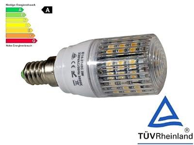 E14 48 LED [X10] (280lm - Warm-Weiß - 48 x 3528 SMD LED - 360º Abstrahlwinkel - 230V AC - 3,0W - Ø30×83mm) von Astek bei Lampenhans.de