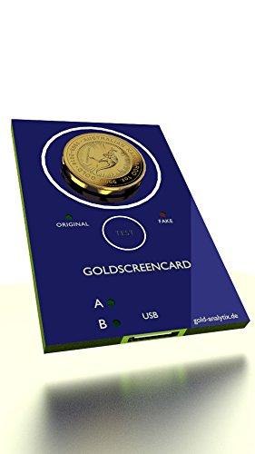 GoldScreenCard - Münztester, Gold prüfen und testen, Wolfram erkennen, Echtheit