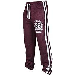 Juleya Hombre Pantalones de chándal Pantalones Deportivos Hiphop Stripe Raya Pantalones de Gimnasio fútbol Pantalones de Ocio con cordón Suave y Cómodo 4 Colores M-3XL