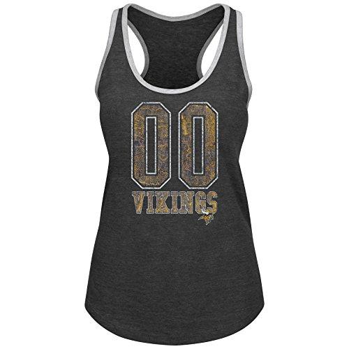 Profile Big & Tall NFL Minnesota Vikings NFL Plus Vikings Team Heather Tank, 2X, Char Hthr/Grau (Womens Big And Tall)