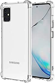 Starhemei for Galaxy A51 Case, Shock-Resistant Flexible TPU Gasbag Protection Rubber Soft Silicone Anti Droppi