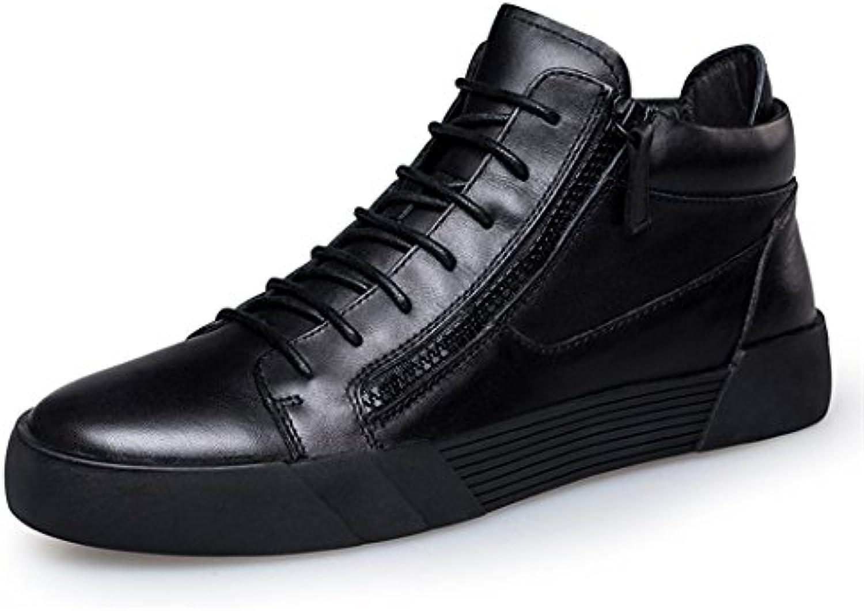 ZQ@QXAlta zapatos y botas de los hombres botas casuales todos-match joven cashmere,negro,41  -