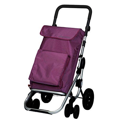 Playmarket 24925/216 Go Plus Chariot de Loisir Polyester/Inox Pourpre 70 x 35 x 35 cm