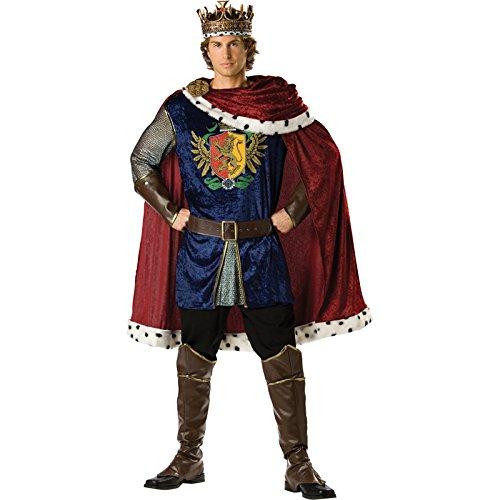 es–cs99609/M–Kostüm König–Größe M (Weißes Fell Cape Kostüm)