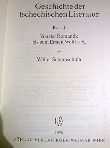 Geschichte der tschechischen Literatur, Bd.2, Von der Romantik bis zum Ersten Weltkrieg (Bausteine zur Slavischen Philologie und Kulturgeschichte, Band 14)