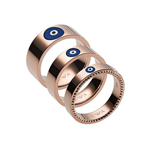 Emporio Armani Damen-Stapelring Edelstahl mit \'- Ringgröße 56 (17.8) EGS2528221-8