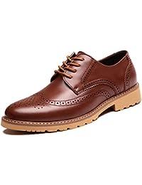 Zapatos De Cuero para Hombres Zapatos De Hombre Tallados En Bloque De Cuero Genuino Zapatos Casuales