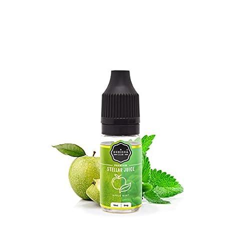 KNUQO STELLAR Juice 10ml - Apfel Minze-Geschmack | e-Zigarette | Wiederaufladbare Elektronische Zigarette Liquid | Nikotinfrei | e Shisha | eShisha Club